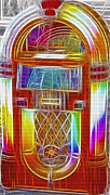 Antiques Mixed Media - Vintage Jukebox - Fractal by Steve Ohlsen