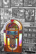Cds Framed Prints - Vintage Jukebox - Nostalgia Framed Print by Steve Ohlsen