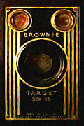 Digital Camera Posters - Vintage Kodak Brownie Target Six-16 Camera . Version 2 Poster by Wingsdomain Art and Photography