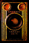 Brownie Digital Art - Vintage Kodak Brownie Target Six-16 Camera by Wingsdomain Art and Photography