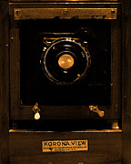 Camera Lens Framed Prints - Vintage Korona View Camera . sepia . 7D13356 Framed Print by Wingsdomain Art and Photography