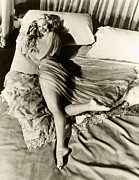 Look-alike Framed Prints - Vintage Mae West in Bed Framed Print by Purcell Pictures