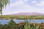 Hawaiian Vintage Art Paintings - Vintage Mauna Kea by Hawaiian Legacy Archive - Printscapes