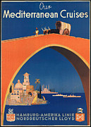 Hamburg Digital Art Posters - Vintage Mediterranean Travel Poster Poster by George Pedro