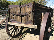 Wagon Wheels Photos - Vintage Mining Wagon by Helaine Cummins