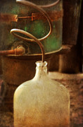 Hooch Prints - Vintage Moonshine Still Print by Jill Battaglia
