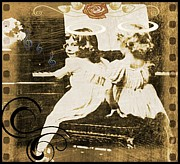 Girls Mixed Media - Vintage Music by Tisha McGee