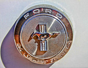 Gas Cap Prints - Vintage Mustang Gas Cap Print by Tony Grider