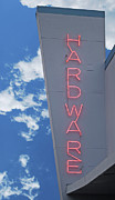 Hardware Shop Prints - Vintage Neon Hardware Sign Print by Loree Johnson