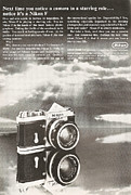 Tv Commercial Posters - Vintage Nikon Camera Poster by Nomad Art And  Design