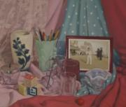 Photorealism Prints - Vintage Objects Print by Suzn Smith