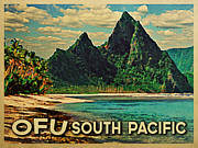 Tourism Digital Art - Vintage Ofu South Pacific by Vintage Poster Designs