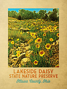 Ottawa Digital Art - Vintage Ohio Lakeside Daisy Preserve  by Vintage Poster Designs