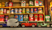Cans Art - Vintage Oil Cans And Toys by Bob Christopher
