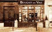 Wine Shop Posters - Vintage Paris 4 Poster by Andrew Fare