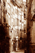 Narrow Streets Prints - Vintage Paris 6 Print by Andrew Fare