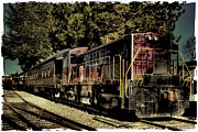 Train Landscape Framed Prints - Vintage Passenger Train III Framed Print by David Patterson