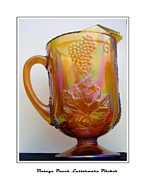 Water Jug Art - Vintage Peach Lusterware Pitcher by Barbara Griffin