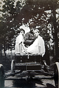 Susan Leggett Art - Vintage Photo of Girls in a Car by Susan Leggett