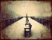 Benches Photos - Vintage Pier by Tara Turner