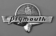 Transportation Framed Prints Prints - Vintage Plymouth Badge Print by Brian Mollenkopf