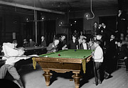 Billiard Prints - Vintage Pool Hall Print by Andrew Fare
