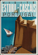 1930 Digital Art - Vintage Portugal Travel Poster by George Pedro