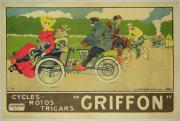 Motor Metal Prints - Vintage poster Bicycle Advertisement Metal Print by Walter Thor