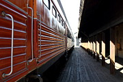 Trains Photos - Vintage Railroad Train At The Station . 7D11602 by Wingsdomain Art and Photography