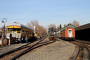 Sacramento Southern Prints - Vintage Railroad Trains In Old Sacramento California . 7D11513 Print by Wingsdomain Art and Photography