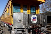 Trains Photos - Vintage Railroad Trains In Old Sacramento California . 7D11583 by Wingsdomain Art and Photography