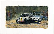 Rally Painting Posters - Vintage Rally Porsche 1 Poster by James Haas