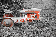 Pedal Car Posters - Vintage Red Pedal Tractor Poster by Carolyn Marshall