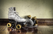 Old Objects Prints - Vintage roller skates  Print by Carlos Caetano