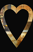 Anahi Decanio Mixed Media - Vintage Romantic Heart by Anahi DeCanio