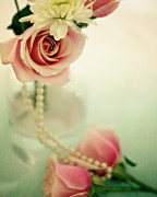 Necklace Photos - Vintage Rose by Lana Trussell