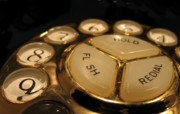 Vintage Telephone Photos - Vintage Rotary Dial Phone by Yali Shi