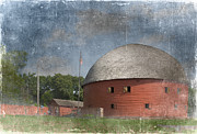 Round Barn Posters - Vintage Round Barn Poster by Betty LaRue