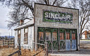 Convention Prints - Vintage Rural Gas Station - Elberta Utah Print by Gary Whitton