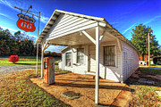 Vintage Rural One Pump Gas Station Print by Dan Carmichael