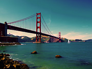 Bay Bridge Art - Vintage San Francisco by Niels Nielsen