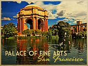 Palace Of Fine Arts Prints - Vintage San Francisco Palace Fine Arts Print by Vintage Poster Designs