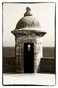 Puerto Rico Art - Vintage San Juan Guard Tower by John Rizzuto
