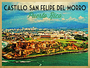 Puerto Rican Prints - Vintage San Juan Puerto Rico Print by Vintage Poster Designs