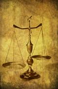 Lawyer Metal Prints - Vintage Scale Metal Print by Tom Mc Nemar