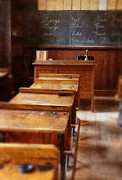 Desks Art - Vintage School Room by Jill Battaglia