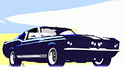 Cobra Framed Prints - Vintage Shelby GT500 Framed Print by Bob Orsillo