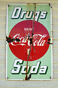 Fun Signs Posters - Vintage Sign Drugs and Soda Poster by Bob Christopher