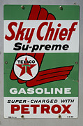 Fun Signs Posters - Vintage Sign For Sky Chief Poster by Bob Christopher