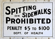 Just For Fun Posters - Vintage Sign For Spitter Haters Poster by Bob Christopher
